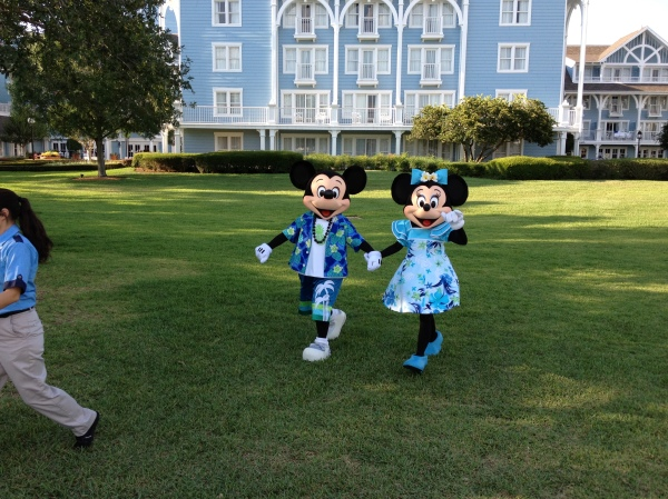 Mickey and Minnie love the Beach Club too!