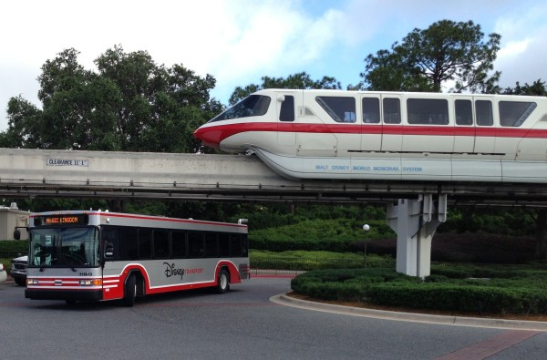 New Bus and Monorail Red
