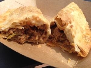 Mmm.  Beef Empanada!