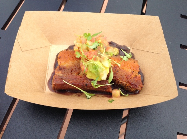 The REALLY crispy pork belly at the 2013 festival.