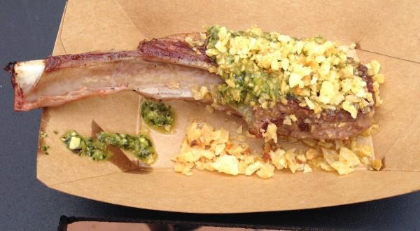 Australia's Grilled Lamb Chop! Yum!