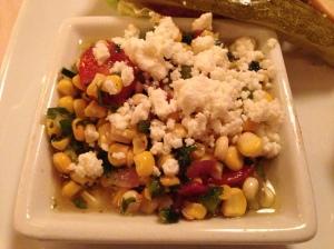 The Sweet Corn Salad was very tasty!