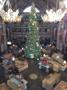 Christmas at Animal Kingdom Lodge ... as taken from the balcony that is the Kilimanjaro Club!