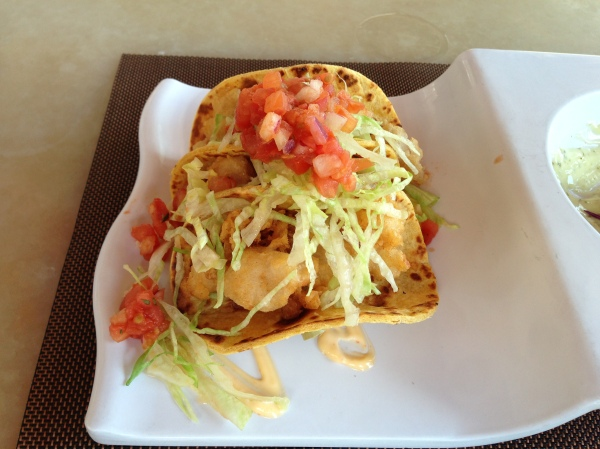 We started with an order of the Fish Tacos.
