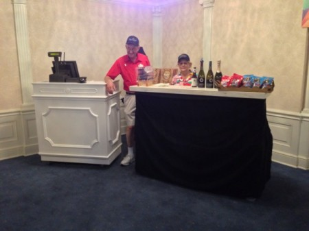 Friendly Cast Members will sell you a snack or some wine.