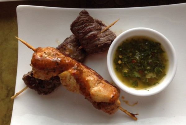 Mix Grill Skewers ... of beef and chicken!