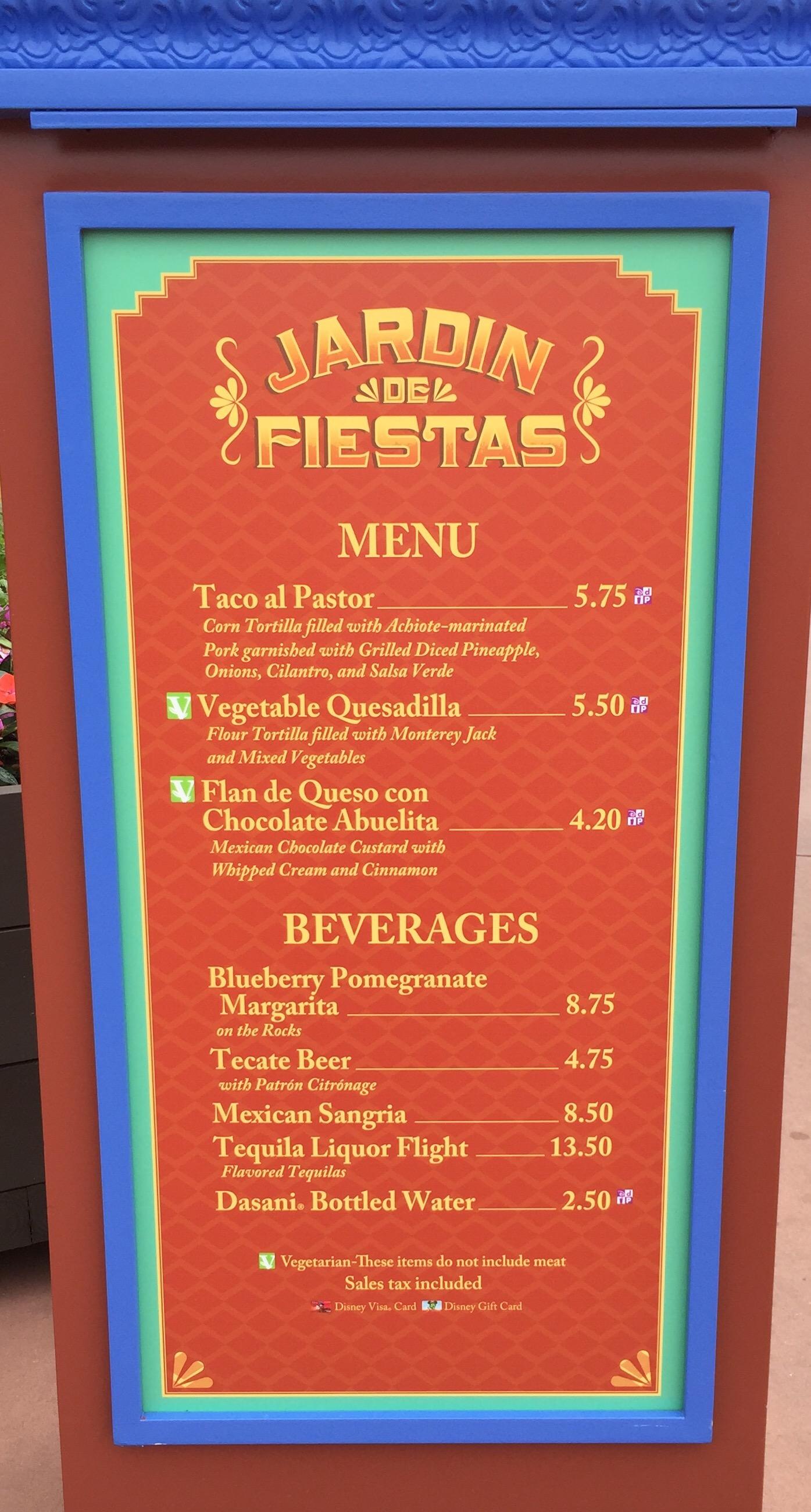 Menu recon jardin de fiestas mexico it 39 s all in wdw - Jardin des crayeres menu ...