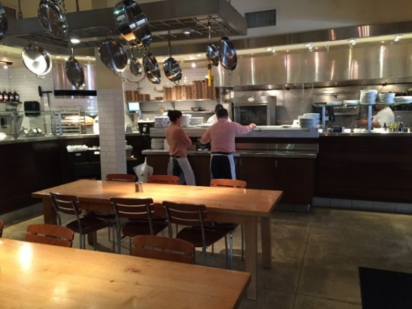 To the right of the counter, you'll find the first of the interior seating areas.