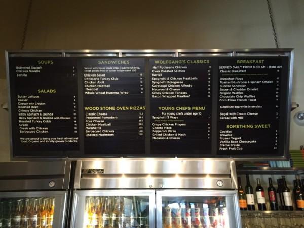 The full menu!