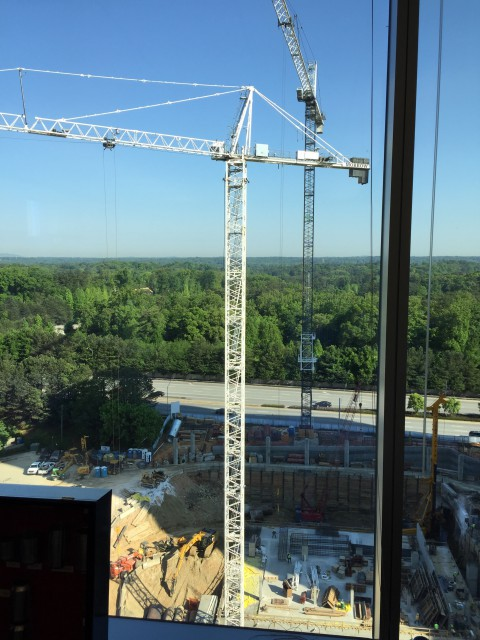 The Buckhead section of Atlanta is crawling with Tower Cranes!