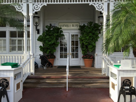 Like everything else at the Grand Floridian, Gasparilla's exterior appearance is clean and pristine.